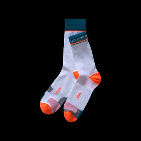 BYBORRE cotton socks aw19 the layered edition white