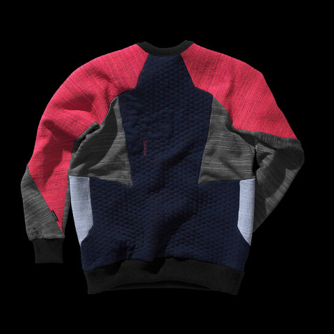 BYBORRE weight map sweater aw19 the layered edition multicolor back