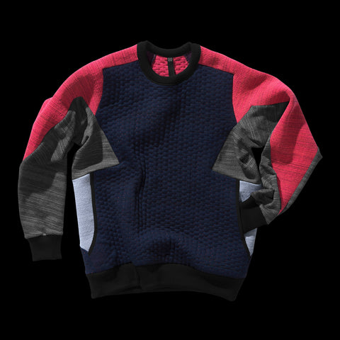 BYBORRE weight map sweater aw19 the layered edition multicolor front