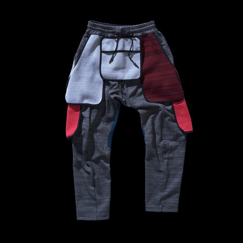 BYBORRE PM pants aw19 the layered edition multicolor front