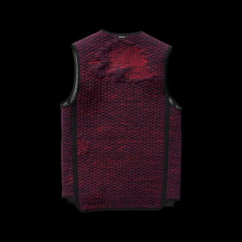 BYBORRE reversible vest aw19 the layered edition graphite deep red back