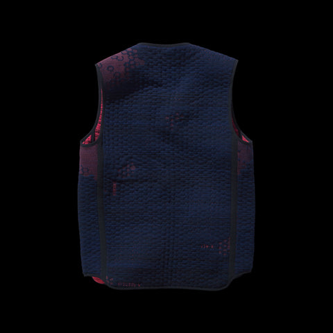 BYBORRE reversible vest aw19 the layered edition night sky blue coral back