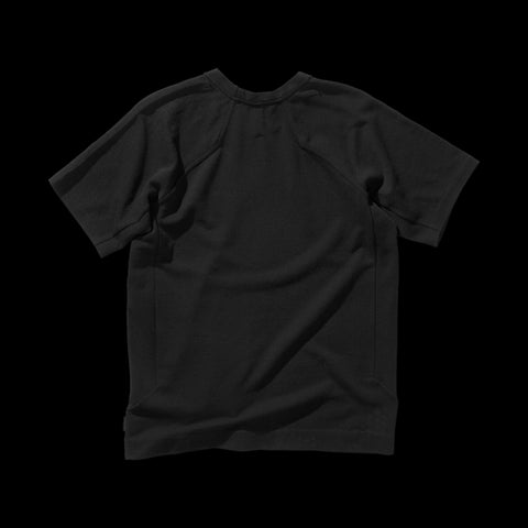 BYBORRE t-shirt shirt short sleeve aw19 the layered edition soot black back