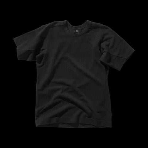 BYBORRE t-shirt shirt short sleeve aw19 the layered edition soot black front