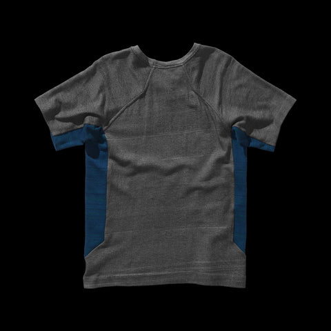 BYBORRE t-shirt shirt short sleeve aw19 the layered edition graphite petrol back