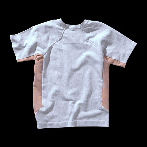BYBORRE t-shirt shirt short sleeve aw19 the layered edition heather grey heather orange back