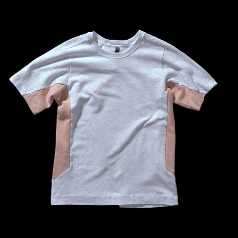 BYBORRE t-shirt shirt short sleeve aw19 the layered edition heather grey heather orange front