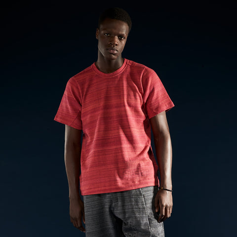 BYBORRE t-shirt shirt short sleeve aw19 the layered edition coral on body front