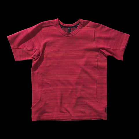 BYBORRE t-shirt shirt short sleeve aw19 the layered edition coral front