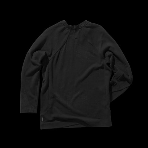 BYBORRE shirt long sleeve aw19 the layered edition soot black back