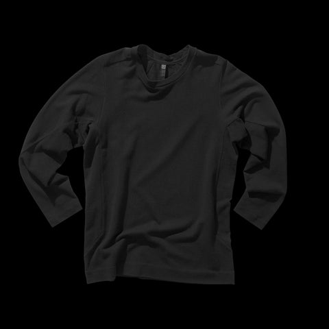 BYBORRE shirt long sleeve aw19 the layered edition soot black front