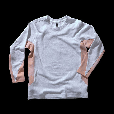 BYBORRE shirt long sleeve aw19 the layered edition heather grey heather orange front