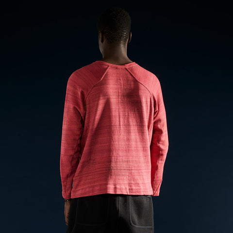 BYBORRE shirt long sleeve aw19 the layered edition coral on body back
