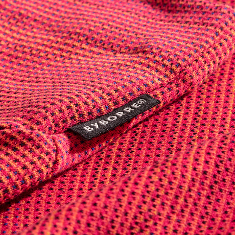 BYBORRE shirt long sleeve aw19 the layered edition coral detail