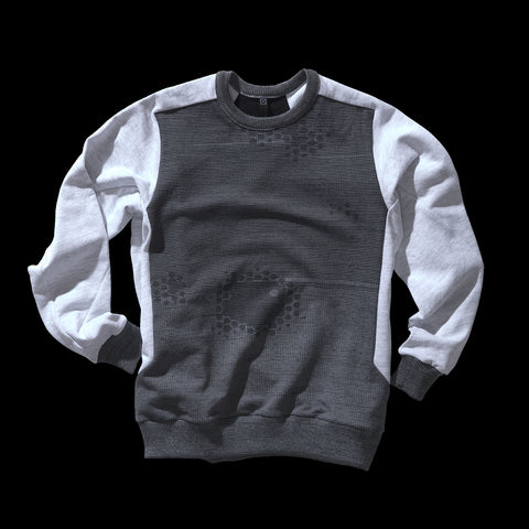 BYBORRE sweater aw19 the layered edition graphite heather grey front