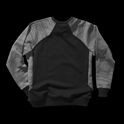 BYBORRE sweater aw19 the layered edition soot black graphite back