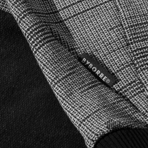 BYBORRE sweater aw19 the layered edition soot black graphite detail