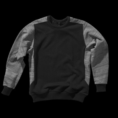 BYBORRE sweater aw19 the layered edition soot black graphite front