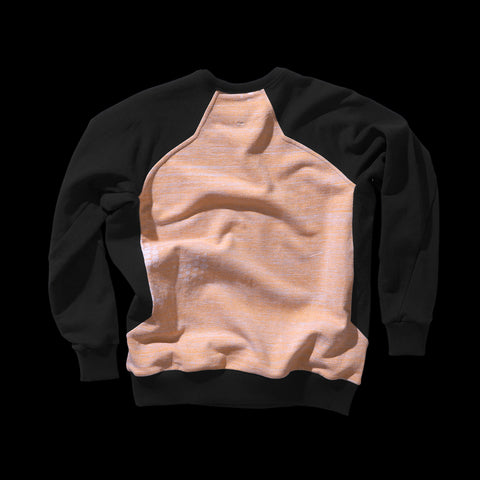 BYBORRE sweater aw19 the layered edition heather orange soot black back
