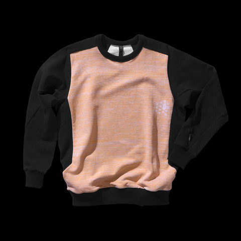 BYBORRE sweater aw19 the layered edition heather orange soot black front