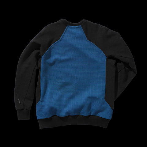 BYBORRE sweater aw19 the layered edition petrol soot black back