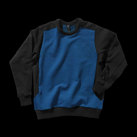 BYBORRE sweater aw19 the layered edition petrol soot black front