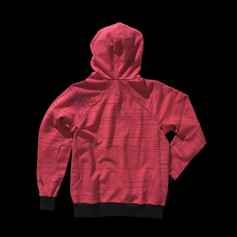 BYBORRE zip hoodie hooded sweater aw19 the layered edition coral back
