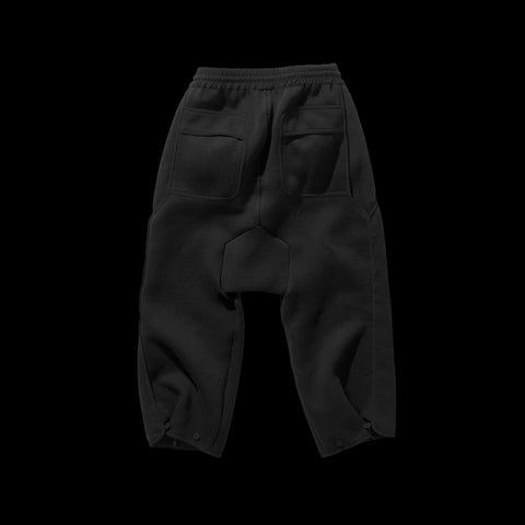 BYBORRE cropped pants aw19 the layered edition soot black back