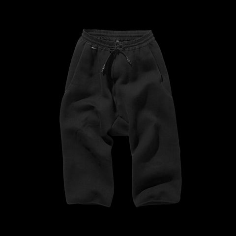 BYBORRE cropped pants aw19 the layered edition soot black front
