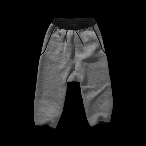 BYBORRE cropped pants aw19 the layered edition graphite front