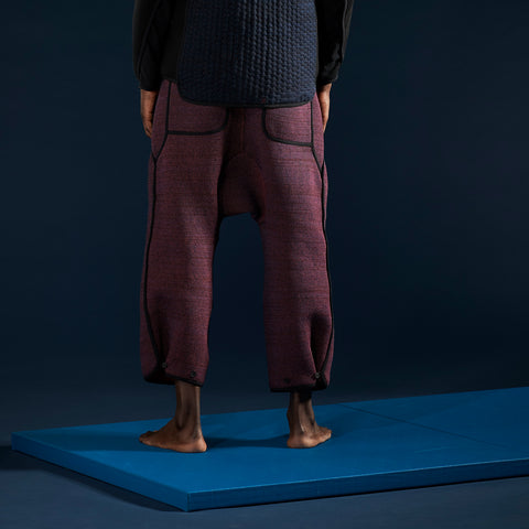 BYBORRE pants aw19 the layered edition night sky blue on body back