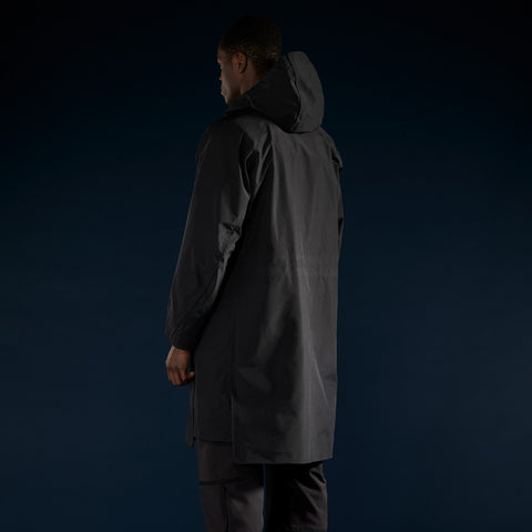 BYBORRE overparka aw19 the layered edition gore tex black on body back