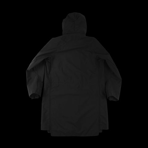 BYBORRE overparka aw19 the layered edition gore tex black back