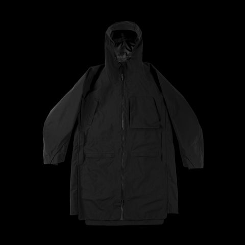 BYBORRE overparka aw19 the layered edition gore tex black front