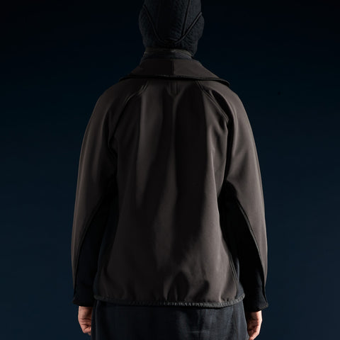 BYBORRE c jacket aw19 the layered edition gore tex black on body back