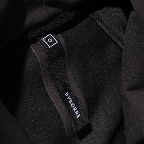 BYBORRE c jacket aw19 the layered edition gore tex black detail