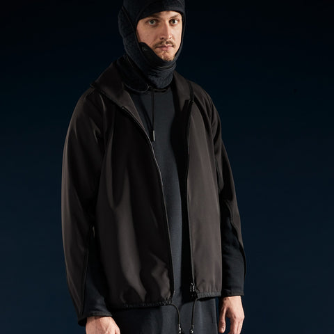 BYBORRE c jacket aw19 the layered edition gore tex black on body front