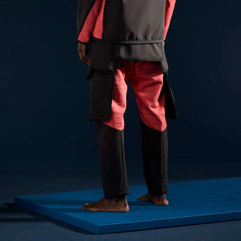 BYBORRE pm pants aw19 the layered edition gore tex black coral on body back