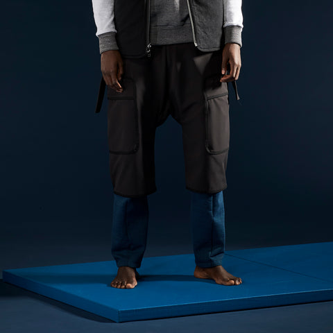 BYBORRE overpants aw19 the layered edition gore tex black on body front