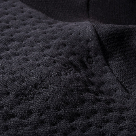 BYBORRE weight map sweater aw19 the layered edition wool deep blue detail