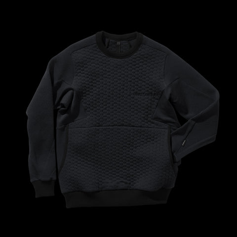 BYBORRE weight map sweater aw19 the layered edition wool deep blue front