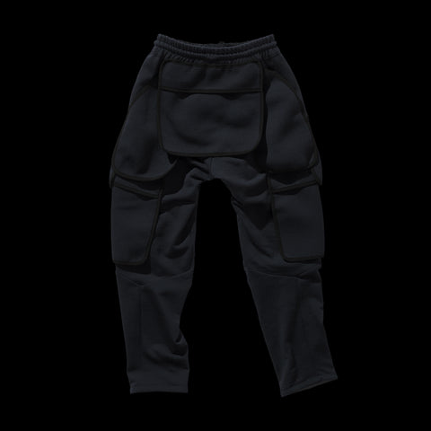 BYBORRE pm pants aw19 the layered edition wool deep blue back
