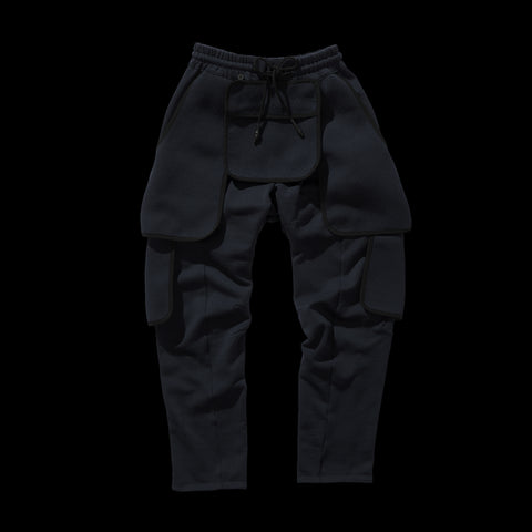 BYBORRE pm pants aw19 the layered edition wool deep blue front