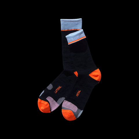 BYBORRE socks aw19 the layered edition wool black front