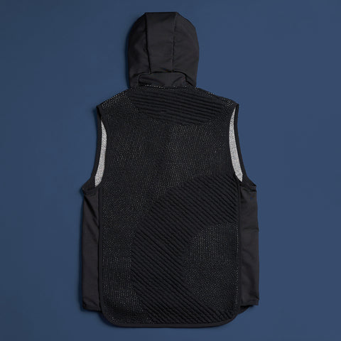 byborre hooded vest aw18 h1 black back