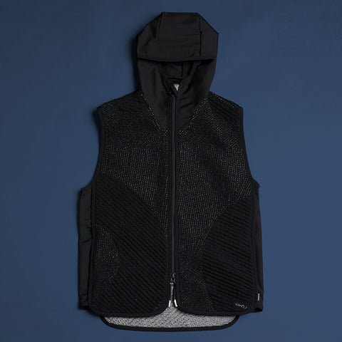 byborre hooded vest aw18 h1 black front