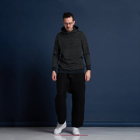 byborre hoodie hooded sweater aw18 a1 black on body