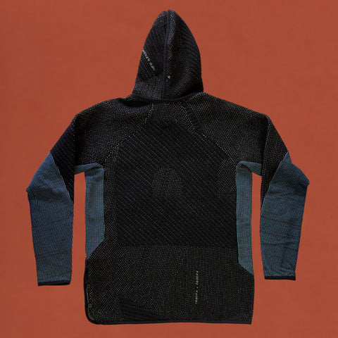 byborre hoodie hooded sweater aw18 a4 black blue back