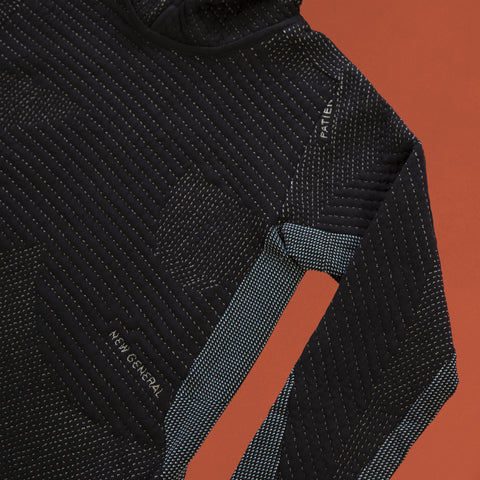 byborre hoodie hooded sweater aw18 a4 black blue detail