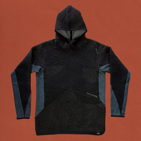 byborre hoodie hooded sweater aw18 a4 black blue front
